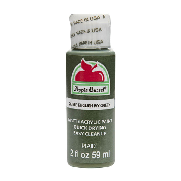 Apple Barrel Acrylic Paint - English Ivy Green, 2 oz. - Sew Many Prims