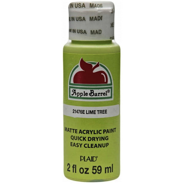 Apple Barrel Acrylic Paint - Lime Tree, 2 oz. - Sew Many Prims
