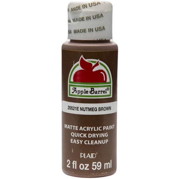Apple Barrel Acrylic Paint - Nutmeg Brown, 2 oz. - Sew Many Prims