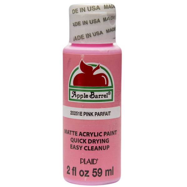 Apple Barrel Acrylic Paint - Pink Parfait, 2 oz. - Sew Many Prims