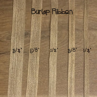 "Burlap Ribbon - 1/2"", 1 yd - Sew Many Prims"