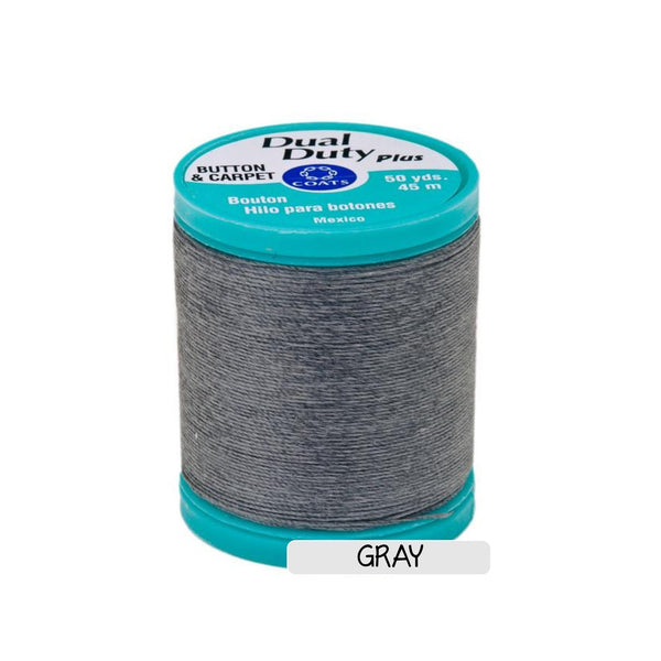 CLEARANCE Button & Craft Thread - gray, 50 yds - Sew Many Prims