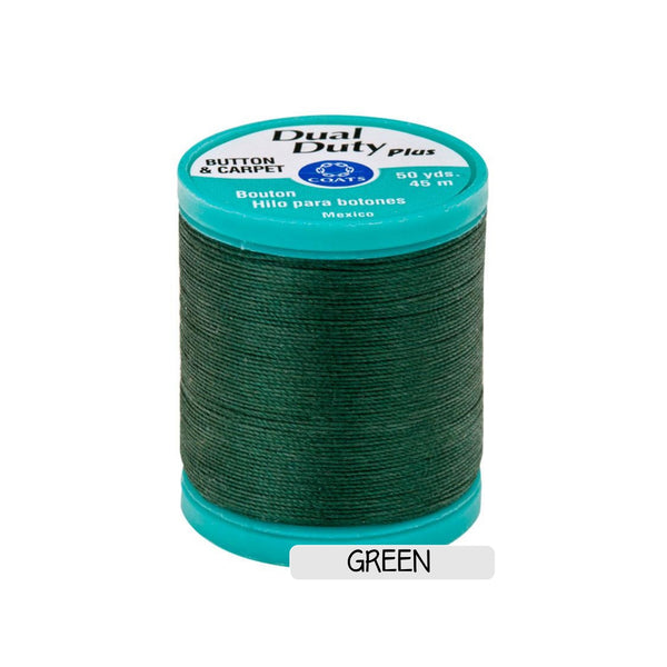 CLEARANCE Button & Craft Thread - green, 50 yds - Sew Many Prims