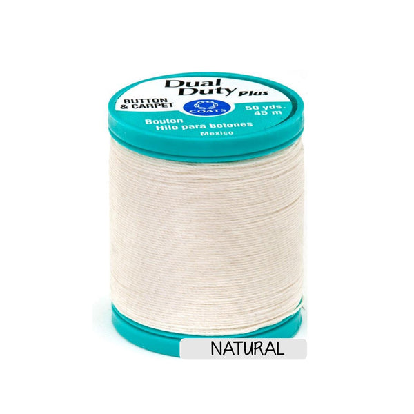 Button & Craft Thread - natural, 50 yds - Sew Many Prims