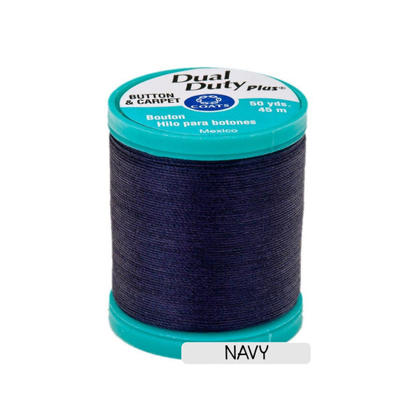 CLEARANCE Button & Craft Thread - navy, 50 yds - Sew Many Prims