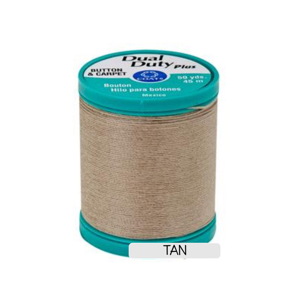 Button & Craft Thread - tan, 50 yds - Sew Many Prims