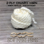 DISCONTINUED - 2 ply Chunky Twists, warm vanilla - Sew Many Prims