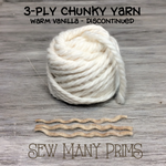 DISCONTINUED - 3 ply Chunky Twists, warm vanilla - Sew Many Prims