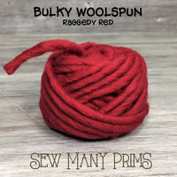 CLEARANCE Bulky Woolspun, raggedy red - Sew Many Prims