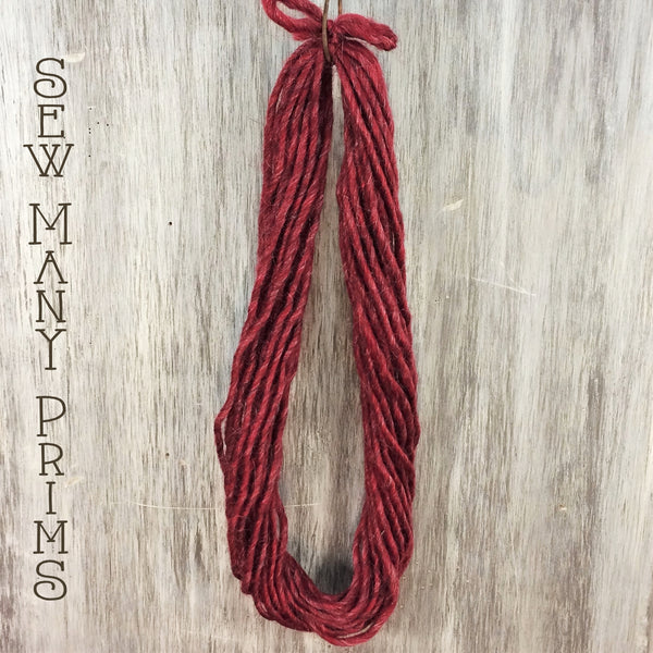 Fat Woolspun, barn red - Sew Many Prims