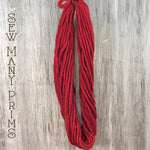 skinny woolspun in raggedy red