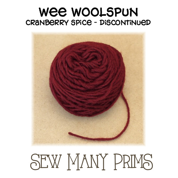 DISCONTINUED - Wee Woolspun, cranberry spice