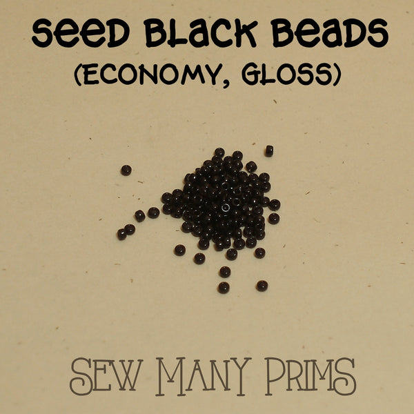 Black Beads, seed - Sew Many Prims