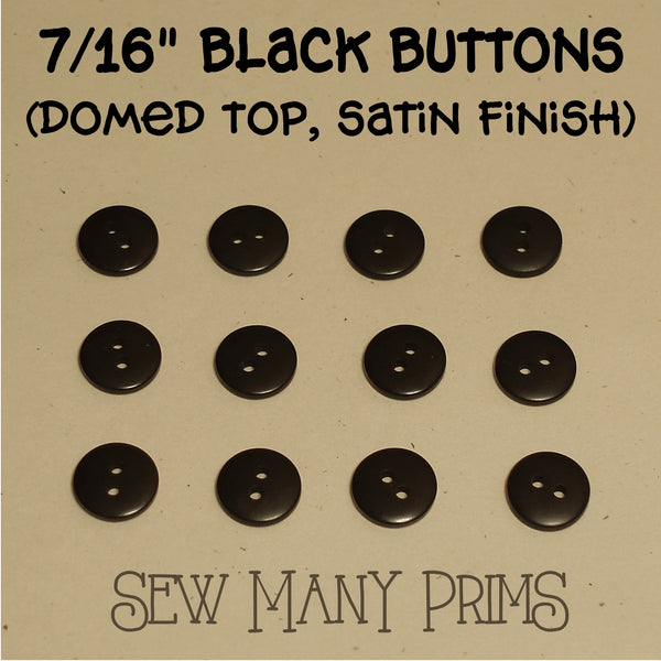 black buttons 7/16""