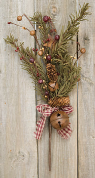"CLEARANCE Rustic Holiday Pine Pick, 16"" - Sew Many Prims"
