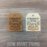Frost on the Pumpkin Tags, 12/pk - Sew Many Prims