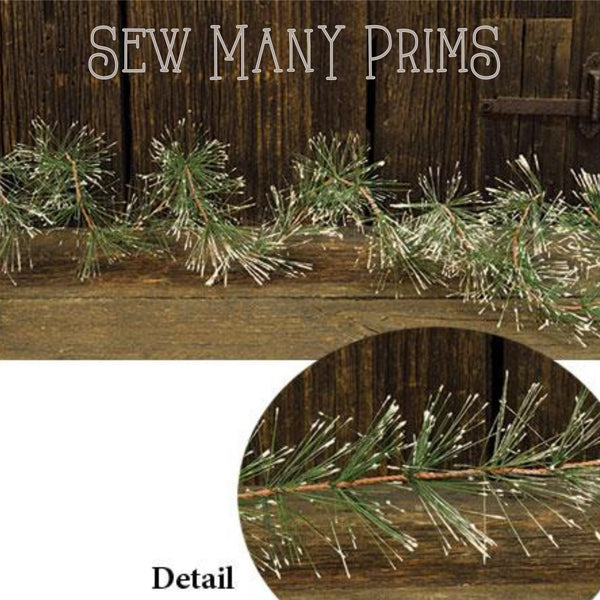 Snowy Pine Wire Garland, 9 ft - Sew Many Prims