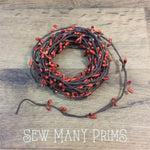 Pip Berry Garland - Burnt Orange, Single Strand, 6 yds - Sew Many Prims