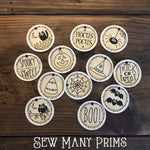 "Halloween Round Tag Set - 1 1/4"", 12/pk - Sew Many Prims"