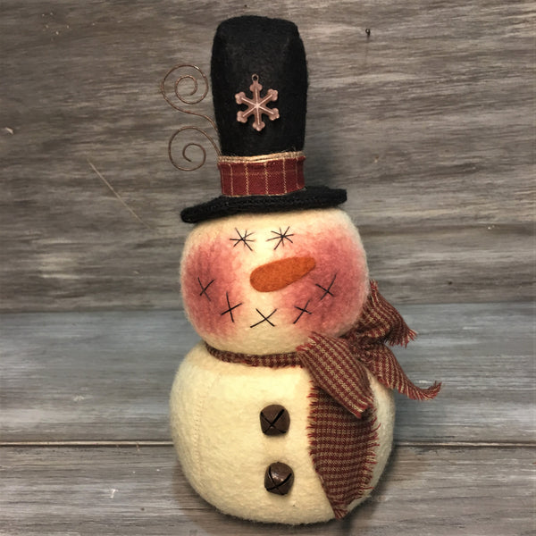 "7 1/2"" Whimsical Snowman Sitter"