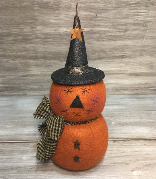 "8"" Whimsical Pumpkin Sitter"