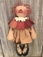 Pumpkin Patty with 4 interchangeable collars - handmade doll - Sew Many Prims