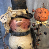 smp-074 All Hallows Eve Snowman Pattern - Sew Many Prims