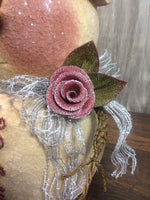 burlap rose on bow