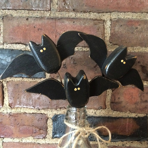 Wooden Halloween Bat Poke - Sew Many Prims