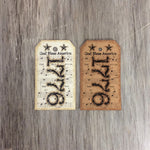1776 hang tags in ivory & kraft