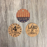 Americana Round Tags, 12/pk - Sew Many Prims