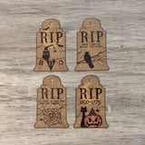 RIP Tombstone Tags, 4/pk - Sew Many Prims