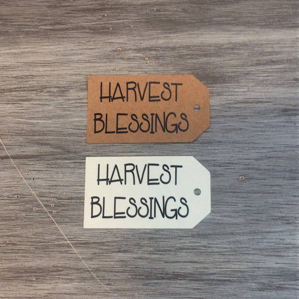 Harvest Blessings Hang Tags