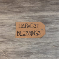 Harvest Blessings Tags, 8/pk - Sew Many Prims