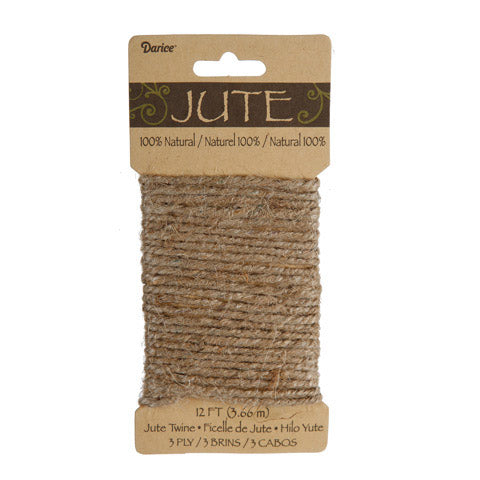 Jute Twine (3-ply) - natural, 12 ft - Sew Many Prims