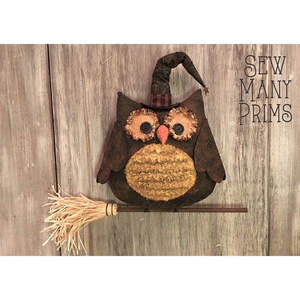 smp-092 Halloween Owl Pattern - Sew Many Prims