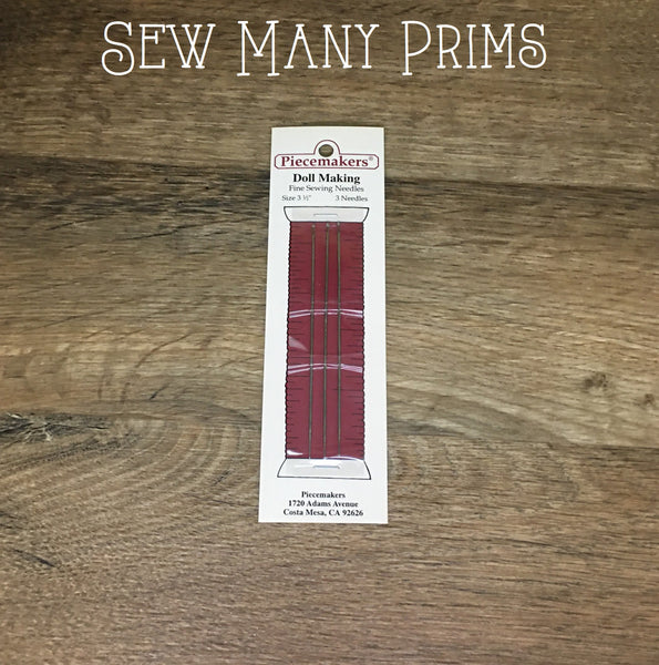 "Doll Making Needles - 3 1/2"", 3/pk - Sew Many Prims"