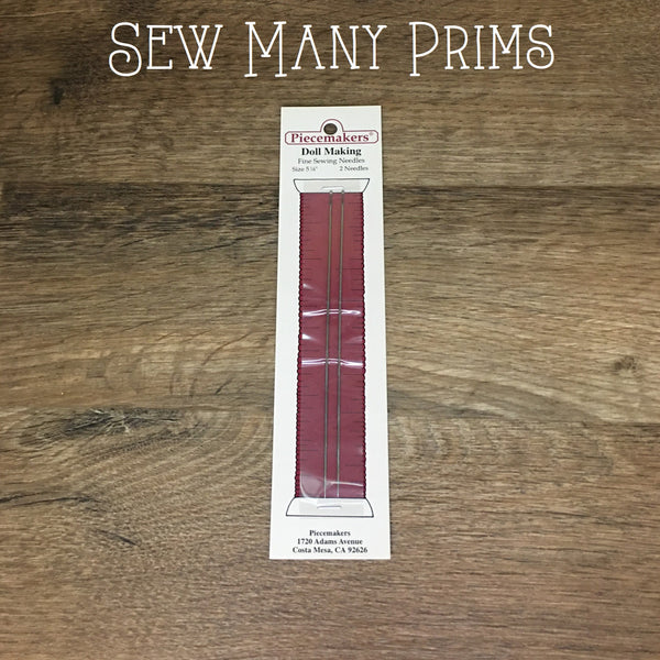 "Doll Making Needles - 5"", 2/pk - Sew Many Prims"