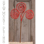 "Spiral Red/Natural Jute Pick, 18"" - Sew Many Prims"