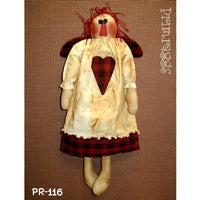 Primitive Raggedy Angel Valentine Doll