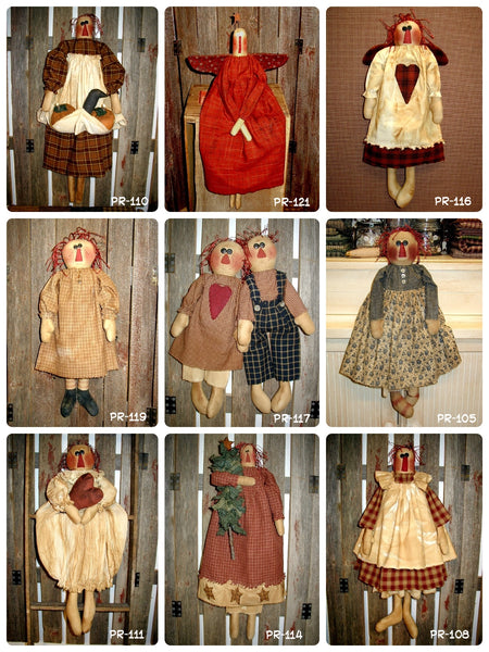 Discounted Raggedy Ann Patterns by Primraggs