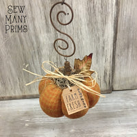 Frosted & Plain Pumpkin Decoration - variety of choices - Sew Many Prims