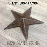 "Barn Star - rustic, 3 1/2"" - Sew Many Prims"