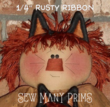 "Rusty Ribbon, 1/4"" x 9 1/2"" - Sew Many Prims"
