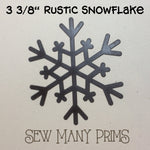 "Rustic Brown Snowflakes, 3 3/8"" - Sew Many Prims"