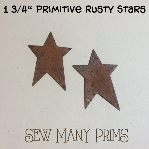 "Primitive Stars, 1 3/4"" - Sew Many Prims"