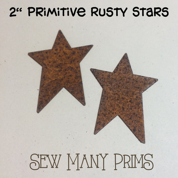 "2"" rusty primitive stars"