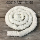 Chenille Trim - cream, 1 yd - Sew Many Prims