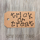 Trick or Treat Tags, 6/pk - Sew Many Prims