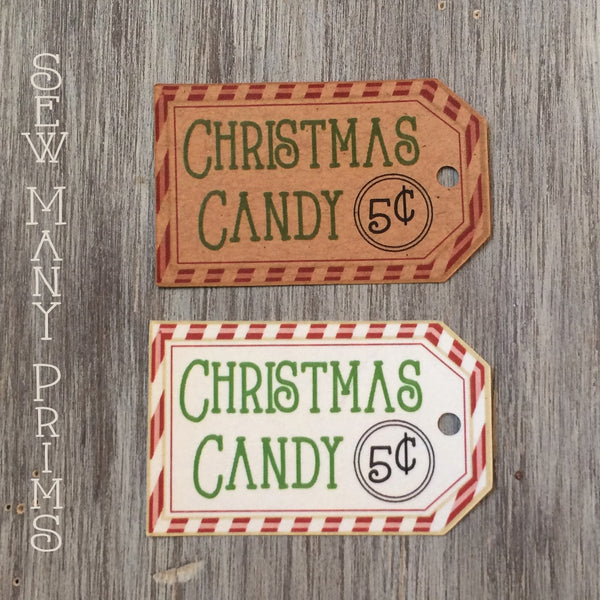 Christmas Candy Tags, 8/pk - Sew Many Prims